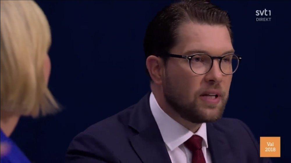 STERKE MENINGER: Jimmie Åkesson skapte stort oppstyr på fredagens partilederdebatt.