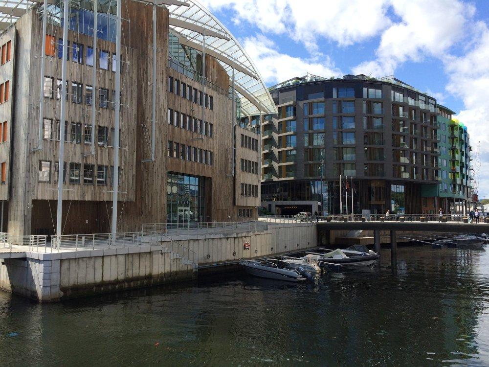 Overlege Mohammad Mamad Arabi kjøpte i 2017 avdøde Kari Monsens penthouse-leilighet på Tjuvholmen for 31 millioner kroner. Illustrasjonsfoto Tjuvholmen.