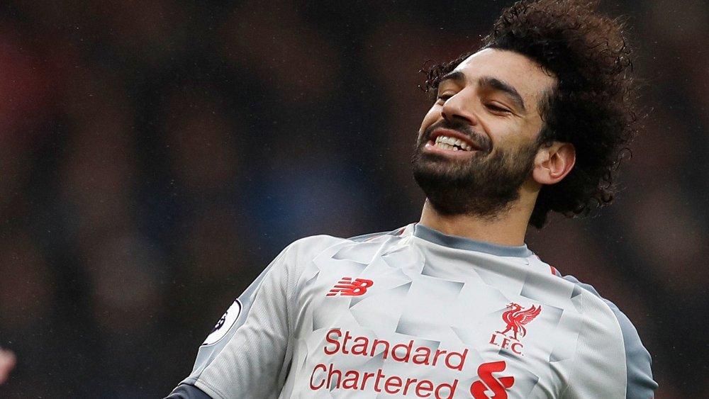 HERJET: Mohamed Salah scoret tre da Liverpool slo Bournemouth lørdag.