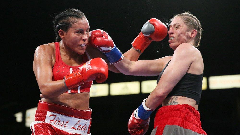 KONTROLL: Cecilia Brækhus var aldri truet under kampen i Los Angeles.