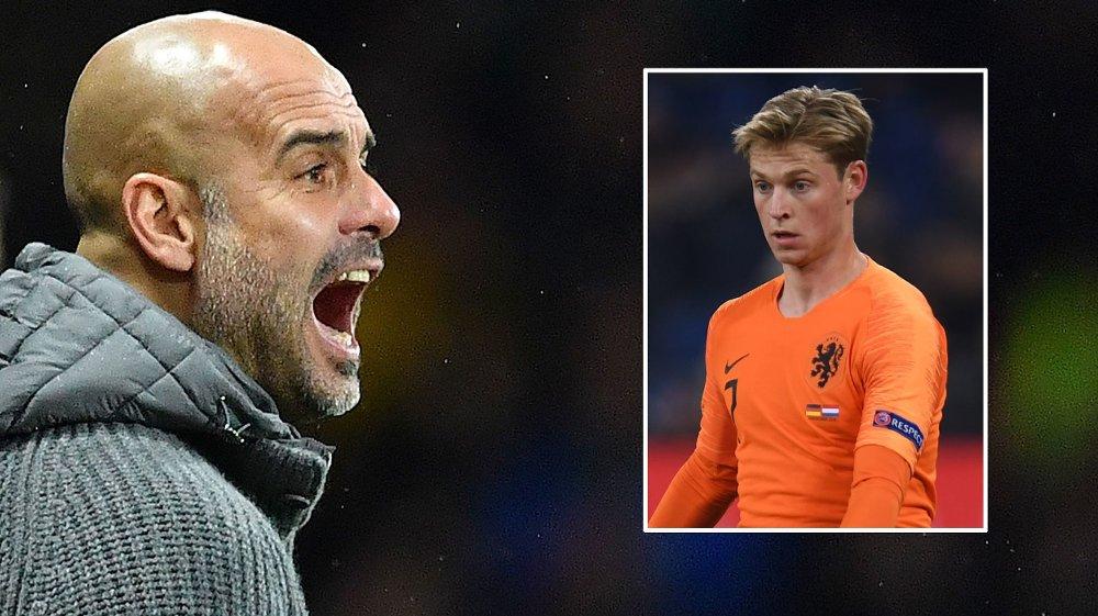 FORBANNA: Pep Guardiola skal ikke være fornøyd med å miste Frenkie de Jong til PSG.