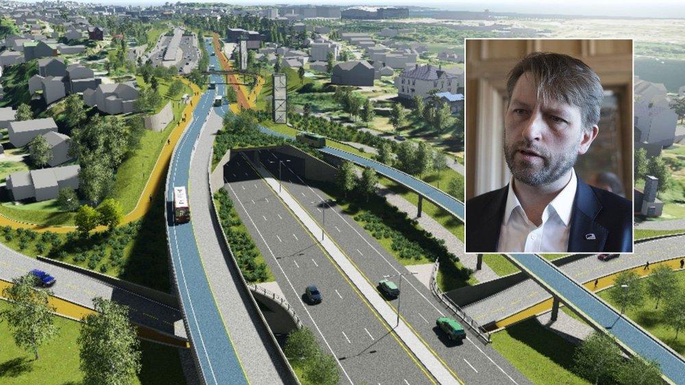 Høyres gruppeleder og byrådskandidat i Oslo Eirik Lae Solberg mener E18 Vestkorridoren må bygges ut som planlagt.