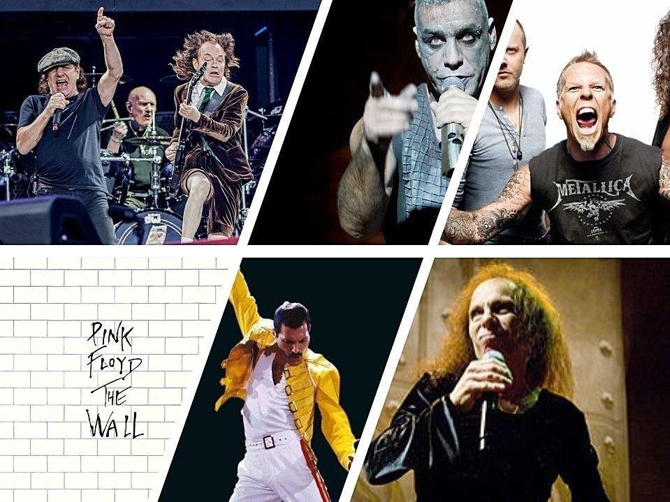 AC/DC, Rammstein, Metallica, Pink Floyd,, Queen og Dio er blant de som har fått flest stemmer så langt