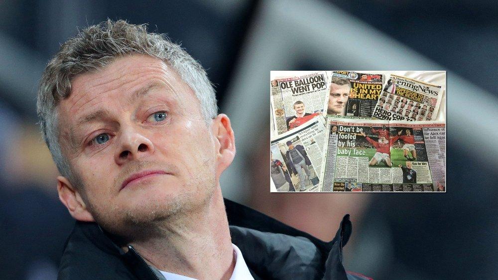 INTERESSE: Britiske aviser har publisert tusenvis av artikler om Ole Gunnar Solskjær de siste ukene.