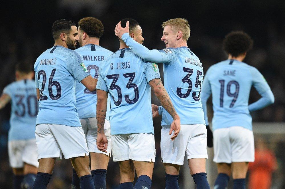 MÅLFEST: Manchester City knuste stakkars Burton i første semifinale i ligacupen.