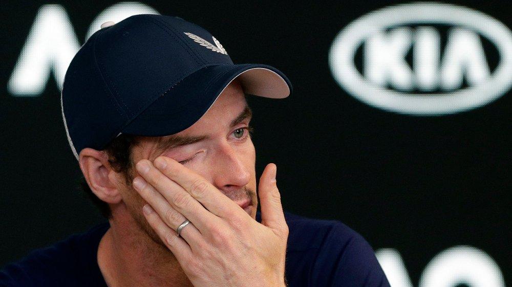TRIST: Andy Murray var langt nede da han fortalte om at skadene tvinger ham til å legge opp i løpet av 2019.