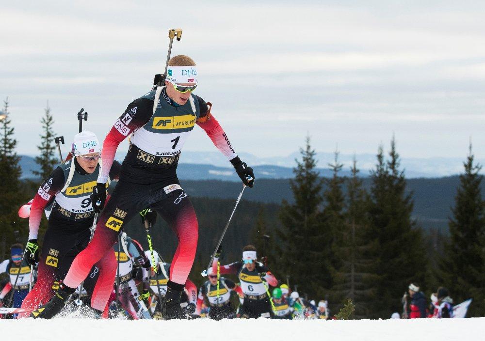 Johannes Thingnes Bø måtte nøye seg med annenplassen på sprinten i tyske Oberhof fredag. Foto: Berit Roald / NTB scanpix