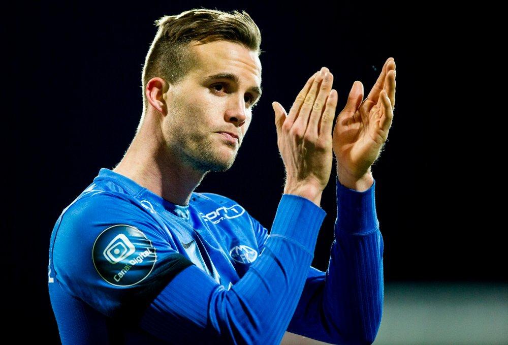 Fredrik Brustad forlater Molde etter to og en halv sesong og signerte fredag en treårskontrakt med Mjøndalen. Foto: Vegard Wivestad Grøtt / NTB scanpix