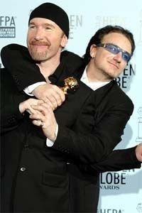 U2 The Edge og Bono