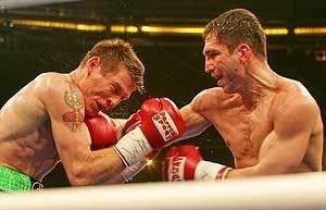 Utfordrer Danny Green fra Australia (t.v.) i møte med WBC-mester Markus Beyer lørdag.