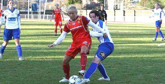 Røas Lene Mykjåland fikk inn tre mål mot Østerrike lørdag.