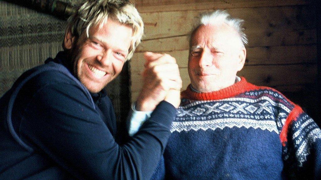 HOPPET I DET: Arne Næss ble filmstjerne i en alder av 92 år i filmen «Loop» av Sjur Paulsen.