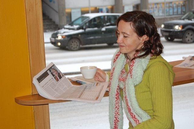 Hedvig Buene, på Kaffebrenneriet i Theresesgate. FOTO: ANITA BAKK HENRIKSEN
