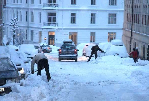 Noen er pent nødt til å ta saken i egne hender. Her fra Niels Juels gate.