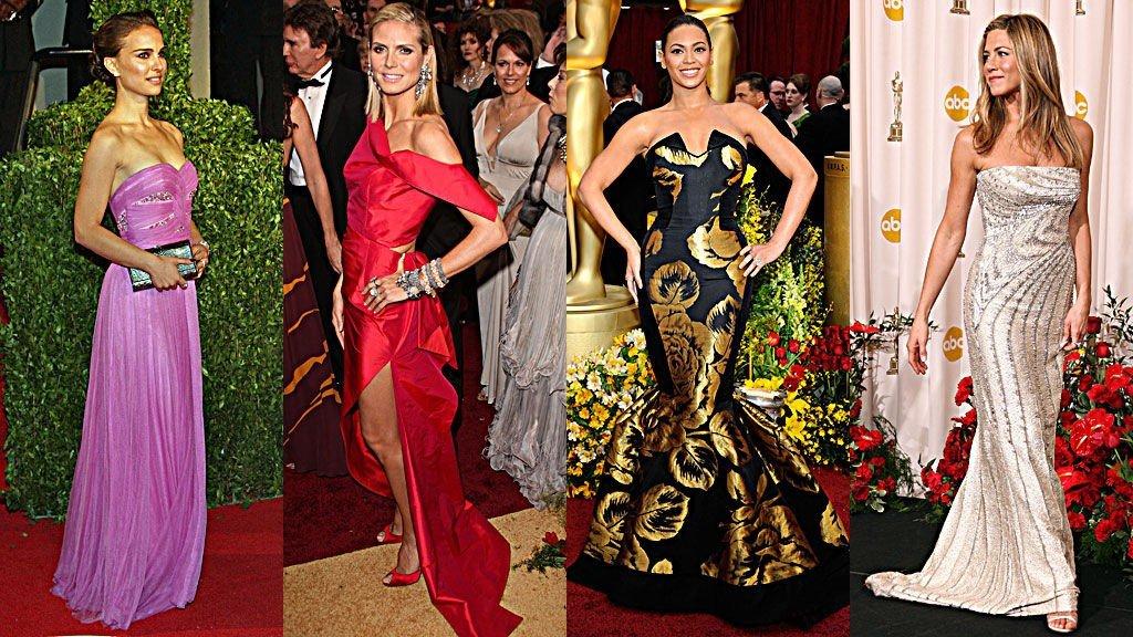 BEST OG VERST: Natalie Portman og Jennifer Aniston fikk det til. Det gjorde ikke Beyoncé Knowels og Heidi Klum.