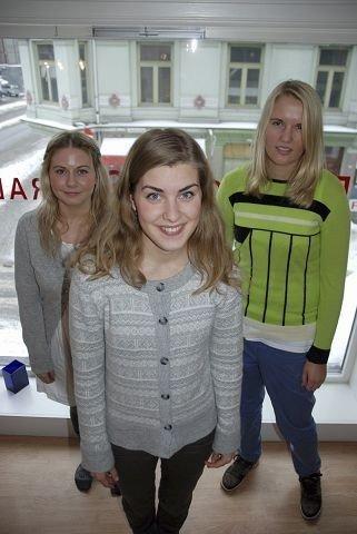 Line Roaas, Lise Solvoll og Emilie Rygh Hestnes. Foto: Anne Marie HUCK