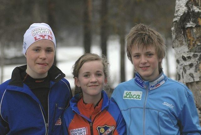 Søsknene Johannes og Emma Sørli Hagerup hadde fått med fetteren Sigurd Sørli Aabakken på Sognsvann Rundt Medsols i forrige uke.