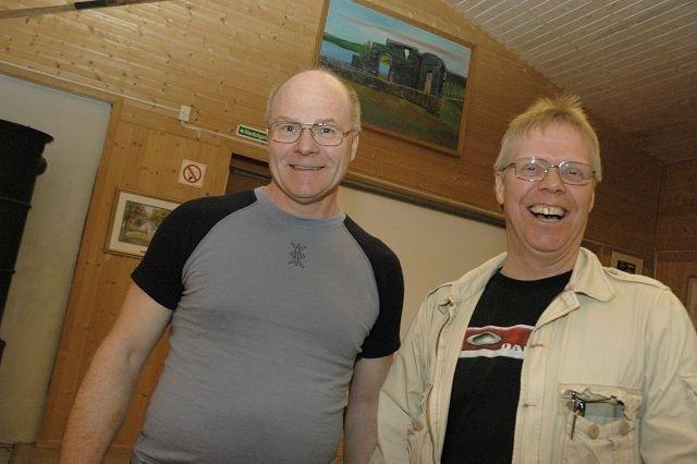 Tor Øysten Olsen (t.v.), leder av Maridalens Venner, og Per Pedersen, leder av Maridalen Vel. Foto: Karl A. Kjelstrup