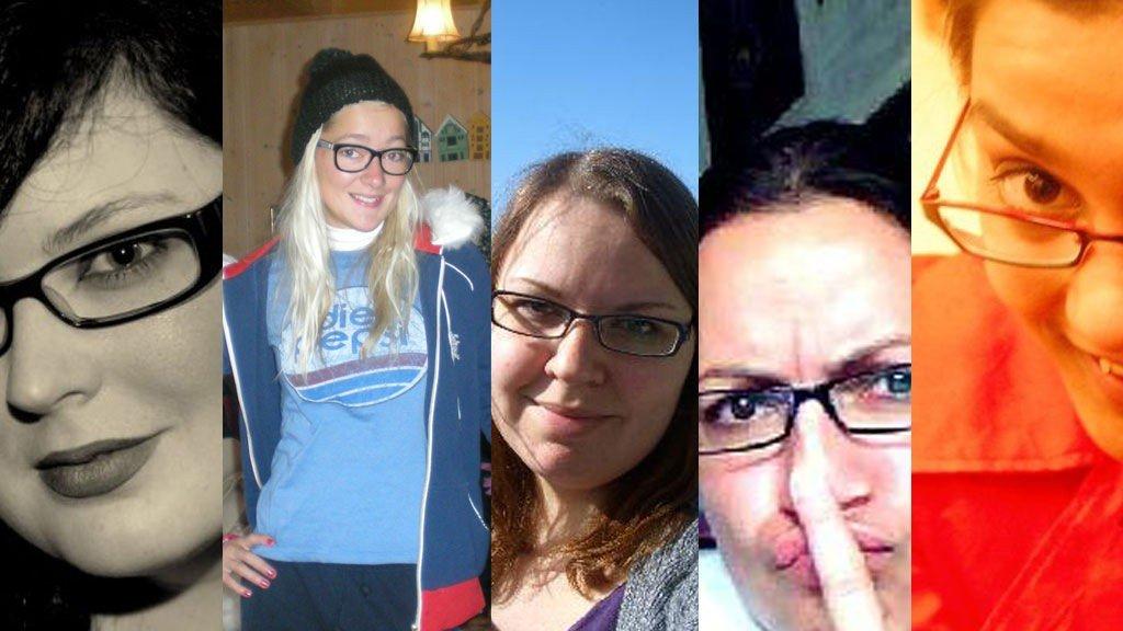 Marilyn, Mona, Elisabeth, Maria og Eivor er alle med i Specsavers brillekonkurranse.