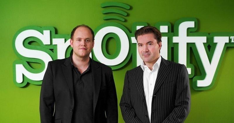 FRELSER: Spotify kan vise seg som musikkindustriens frelser. Bilder viser gründerne Daniel Ek og Martin Lorentzon.