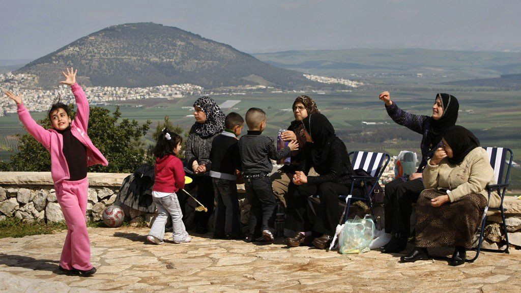 Arabere i Galilea Israel. Mount Precipice utenfor Nazareth nord i Israel