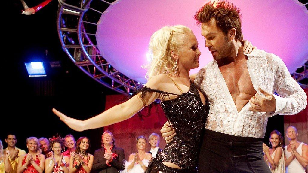 PARTNERE: Gyda Kathrine Bloch Thorsen og Jan Tomas Mørch Husby er klare til dansekamp.