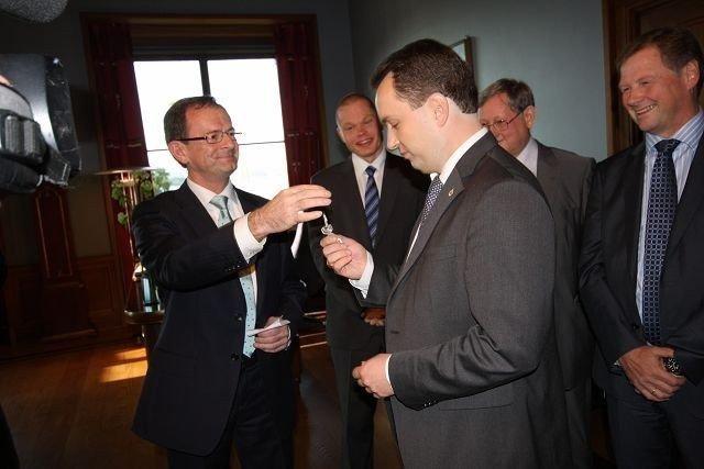 Stian Berger Røsland overtok i dag byrådslederens kontor.