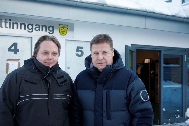 (F.v.) Niklas Grønstrand og Jan Martiniussen er to av initiativtakerne til samabeidet mellom Furuset og Hasle/Løren. Foto: Carina Alice Bredesen
