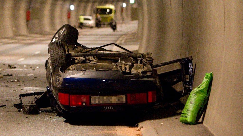 ULYKKESBILEN: Slik så bilen ut etter ulykken
