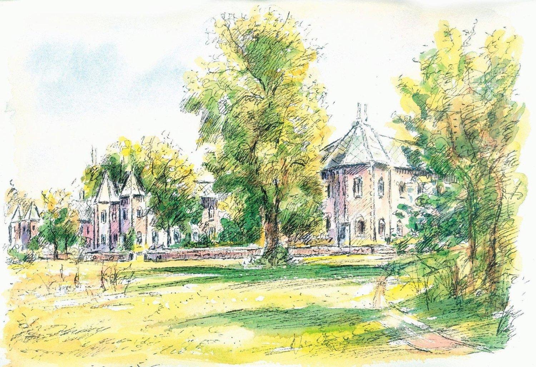 Siden midten av 1880-tallet har den staselige bygningen huset Gaustad sykehus.
