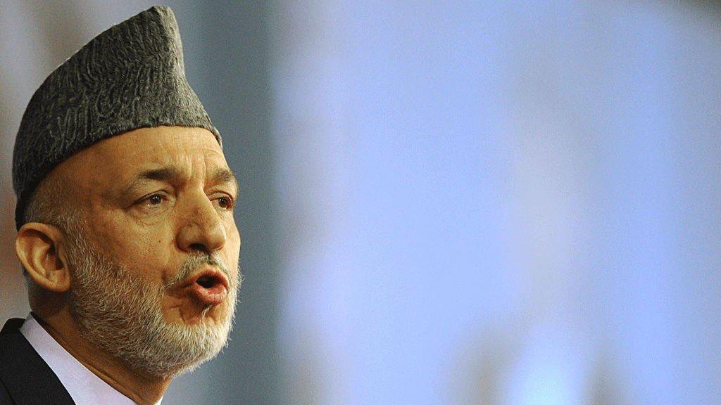 presidenten i Afghanistan, Hamid Karzai.