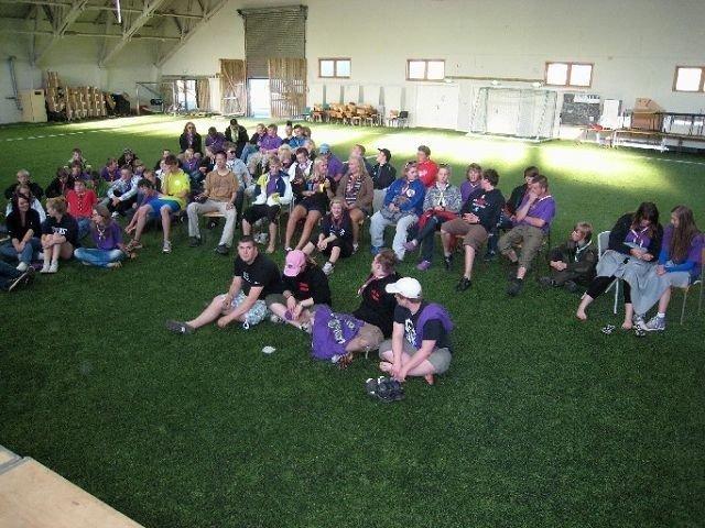 80 frivillige arbeidsmaur bygger leiren en uke før 5000 speidere rykker inn.