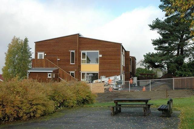 Mangleberget kommunale barnehage skal være ferdig til første halvdel av desember i år.