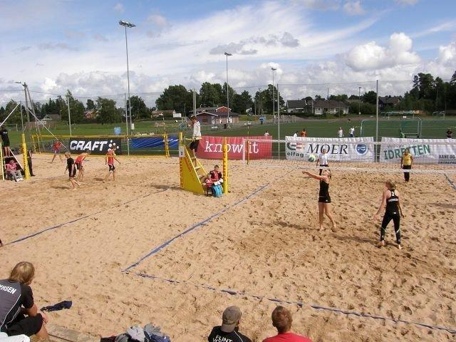 Slike turneringer på volleyballanlegg som dette i Tønsberg ønsker Koll IL også å kunne arrangere,følge idrettslaget.