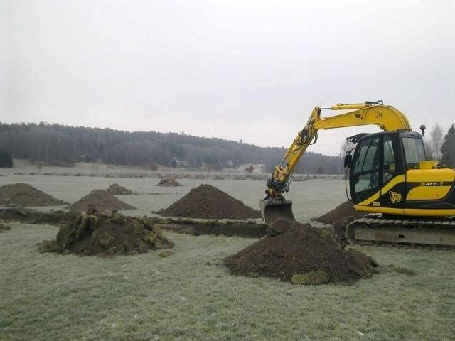 Arkeologene som arbeider på Ekeberg er blant annet på jakt etter bosettingsspor.