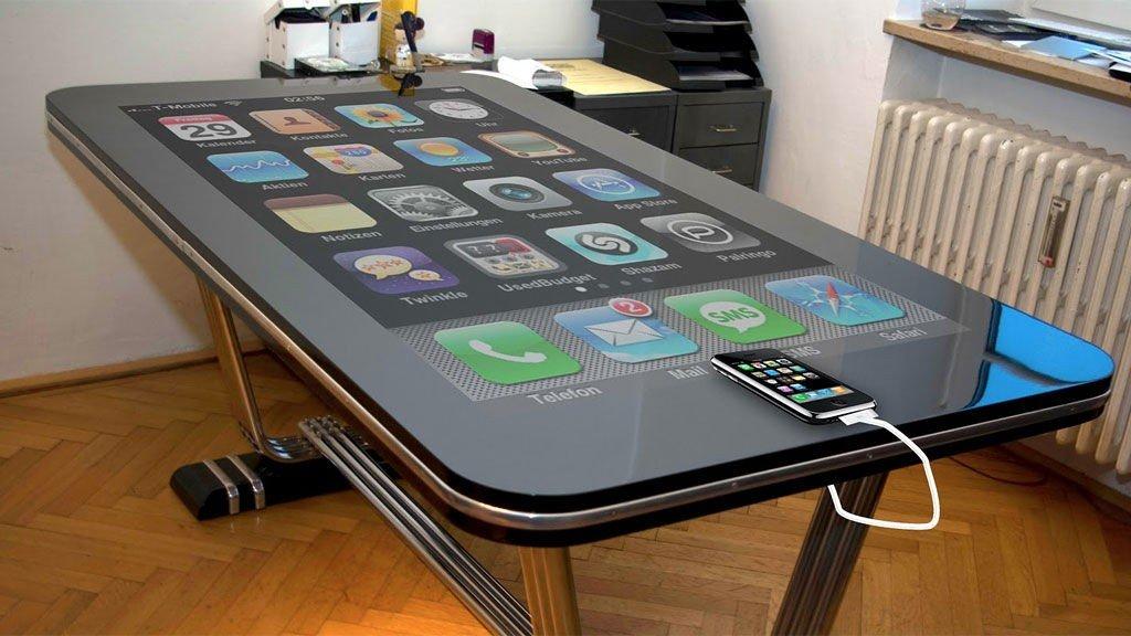 Slik så en av de første prototypene av Table.Connect ut.