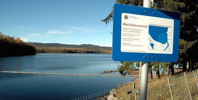 Det er ikke tillatt å fiske i Maridalsvannet.