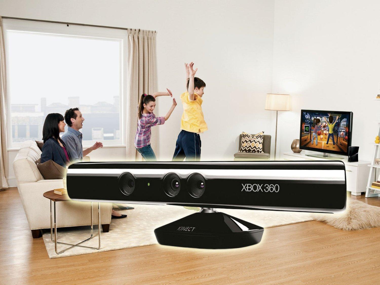 Microsoft Kinect er et kamera som registrerer bevegelsene dine og viderefører disse til spillet.
