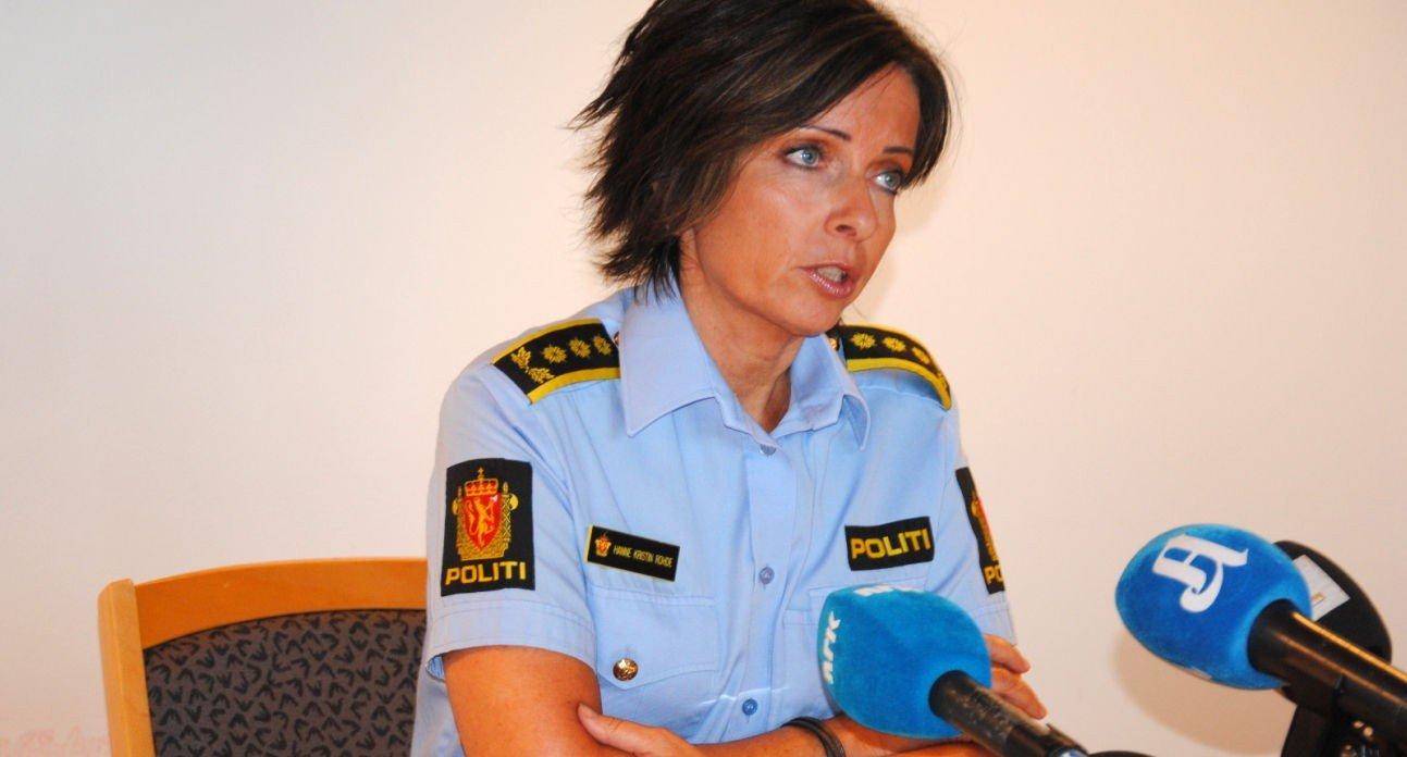 Politiinspektør Hanne Kristin Rohde orienterte om drapsetterforskningen på en pressekonferanse fredag. Bildet er fra en tidligere hendelse.