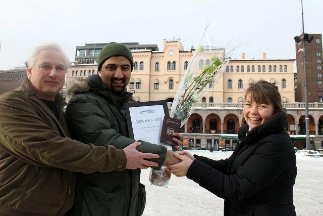 Utekontakt Younas Mohammad-Roa ble årets navn i Lokalavisen St. Hanshaugen i 2009. Hvem vinner i din bydel i år?