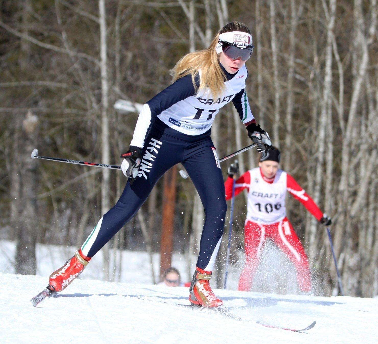 Ida Harto Seim (Heming) var raskest på sprinten i J14.