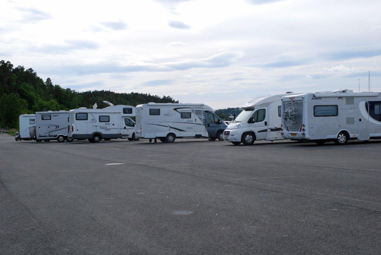 INGEN AVTALE: Sjølyst/Karenslyst båtopplagsforening leier fortsatt ut dette området til bobiler, uten at det foreligger leieavtale med Statsbygg som forvalter området.
