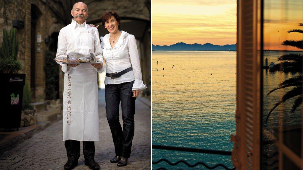 Vakker utsikt og utsøkt mat på den franske rivieraen.