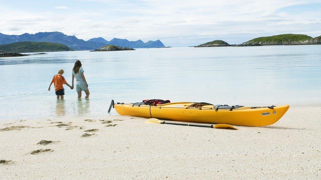 Sommarøy i Tromsø kan fort bli en godt besøkt strand i helga.