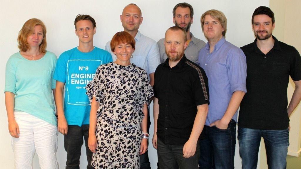 Bak fra venstre: Lisa Cannoux, Sebastian Rasch, Kristian Bye, Alexander Pope, Anders Holm og Sebastian Prestø Foran: Veronica Evertsen (fra Mack) og Erland Wiencke.