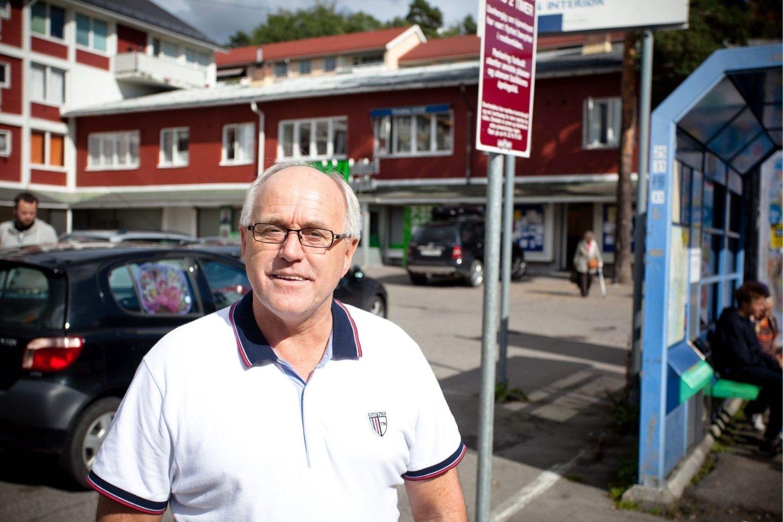 ENGASJERT: Arnfinn Hoel ønsker et flott og attraktivt torg på Tonsenhagen.