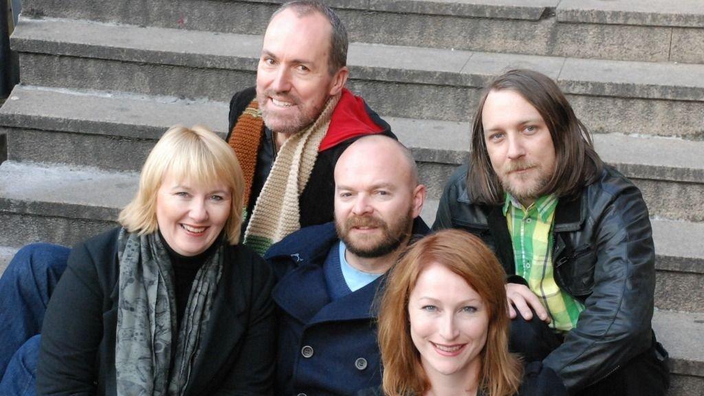 Teamet fra Itera Gazette som vant prestisjekontrakten med Kreftforeningen: Fra venstre: Klara Opdahl, Børge Skråmestø, Amund Hesbøl, Siv Thorud, Ola Einang