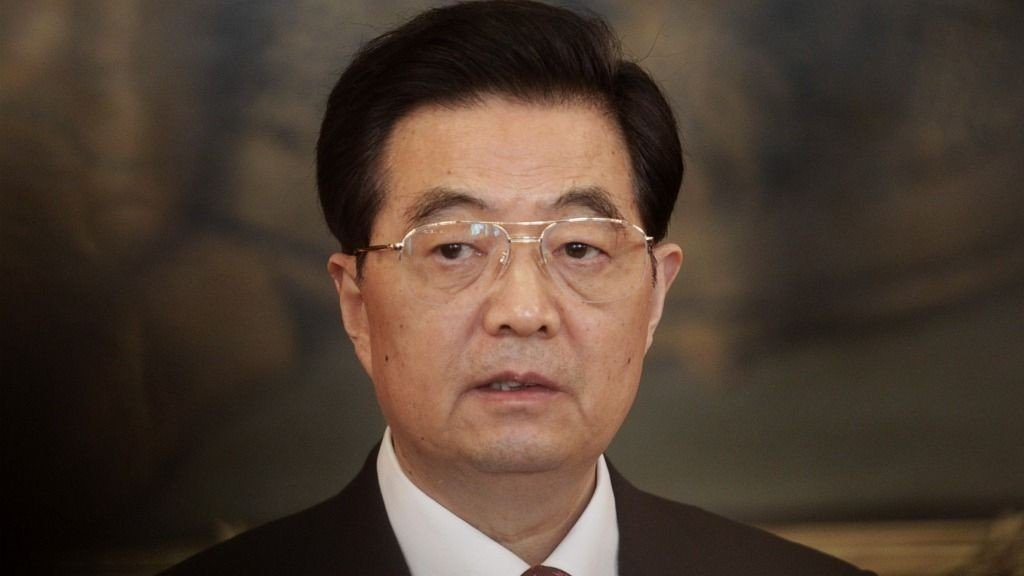 China's President Hu Jintao makes a press statement in the historic Hofburg palace in Vienna October 31, 2011. Hu arrived for an official three day visit to Austria.