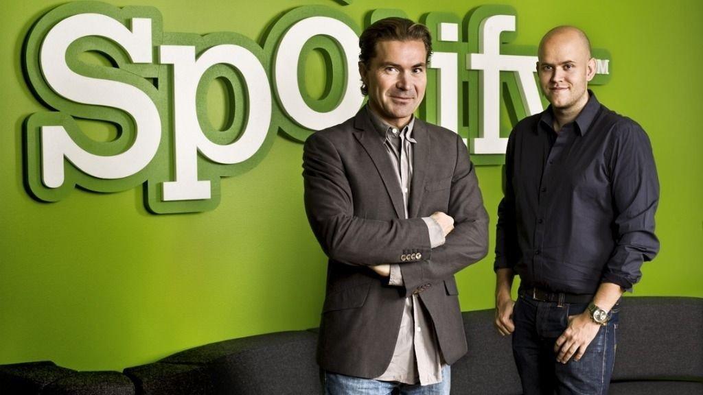 Daniel Ek og Martin Lorentzon grunnlegerne av Spotify
