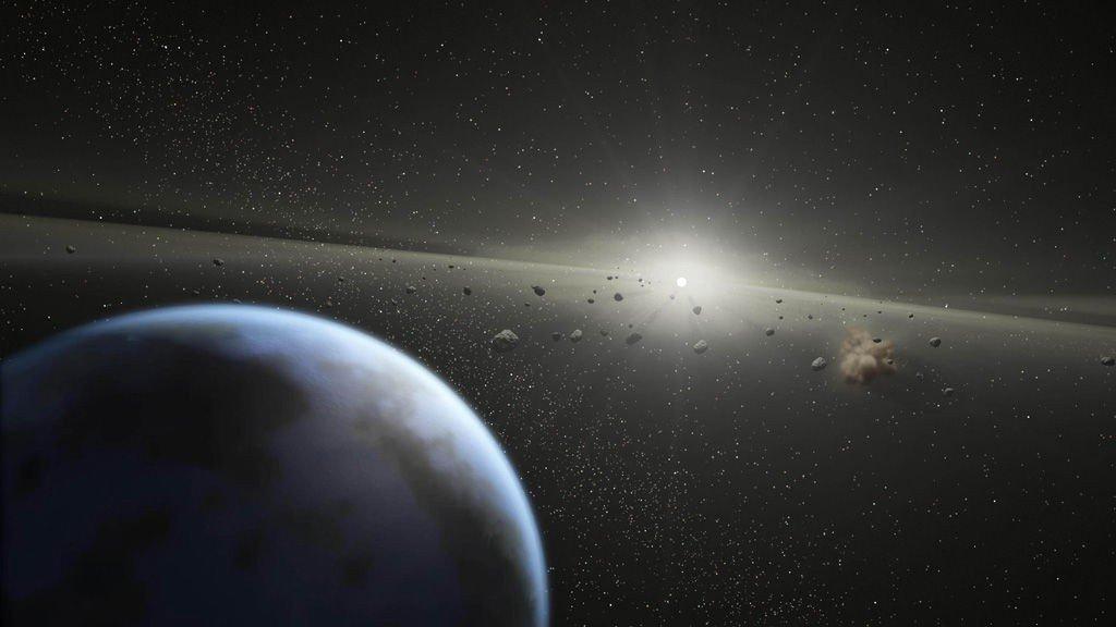 Asteroidbeltet kan være neste steg for menneskehetens søk etter naturressurser. Illustrasjonsbilde